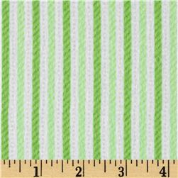 Riley Blake Home for the Holidays Flannel Stripe Green