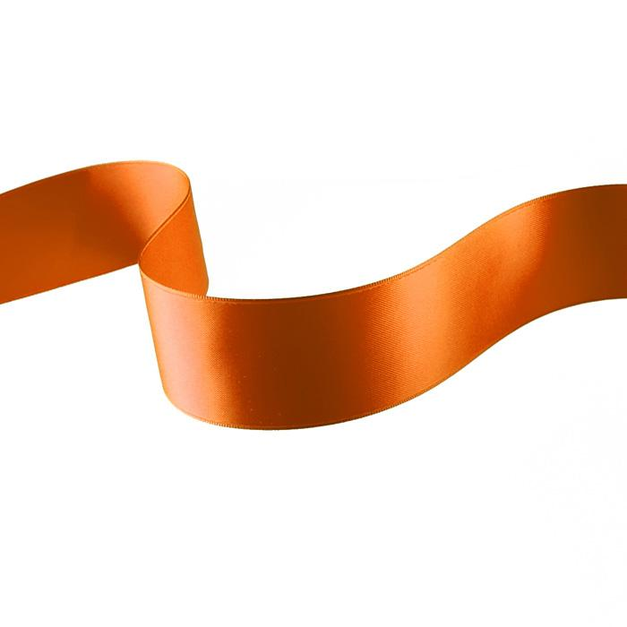 "1 1/2"" Double-sided Satin Ribbon Orange"
