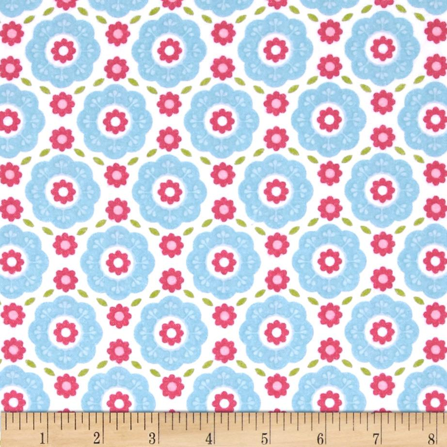 Riley Blake Summer Song 2 Flannel Floral Blue