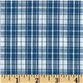 Seersucker Plaid Blue/White