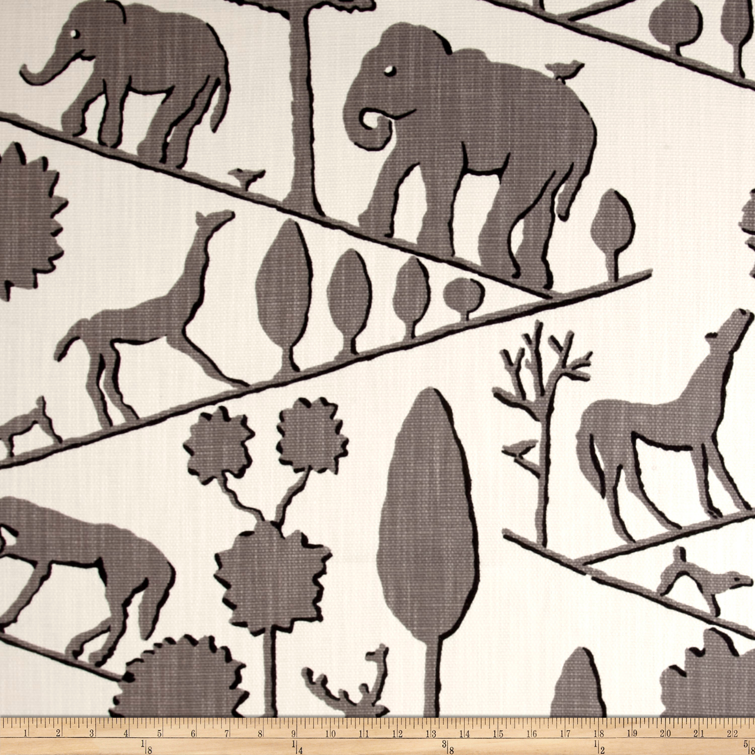 Braemore Jungle Walk/nom Basketweave Elephant Fabric