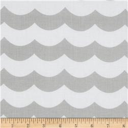 Riley Blake Maritime Modern Chevron Wave Grey