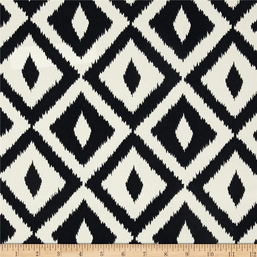 Terrasol indoor outdoor aztec black discount designer for Fabric pattern