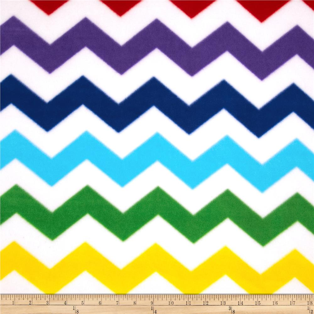 Winter Fleece Chevron White
