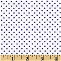 Shannon Minky Cuddle Classic Pin Dot Snow/Navy