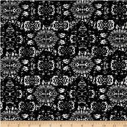 French Designer Cotton Jersey Knit Abstract Black/White