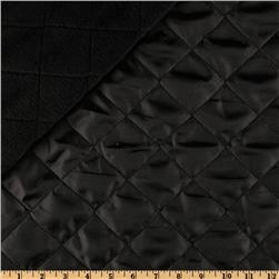 Fleece Backed Quilted Nylon Black
