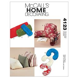 McCall's Comfort Zone Pillows & Bolsters Pattern M4123 Size OSZ