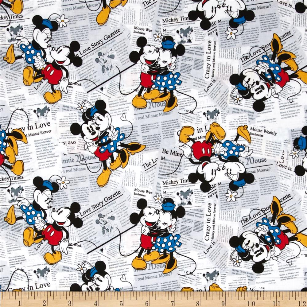Disney Mickey Vintage Mickey & Minnie All over the News White