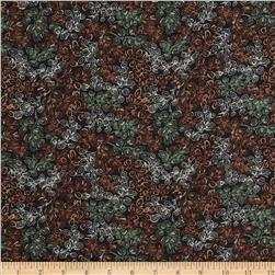 Serenade Rayon Challis Sparkle Vines Brown/Black