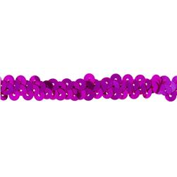 "3/8"" Stretch Metallic Sequin Trim Fuchsia"