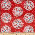 Adorn-it Minky Cuddle Pom Pom Dot Cherry