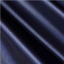 Stretch Satin Organza Navy Fabric