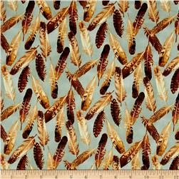 Quail Feathers Blue