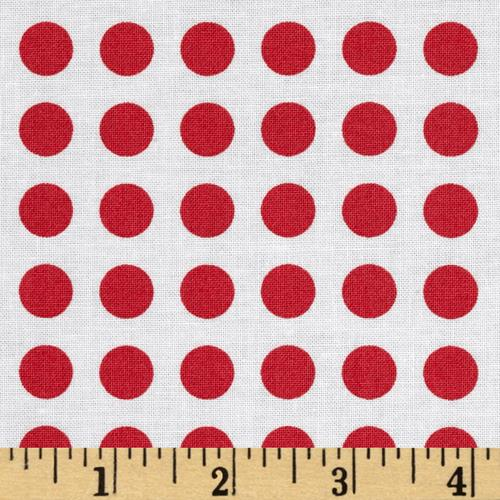 Moda Gooseberry Polka Dots Cloud/Berry