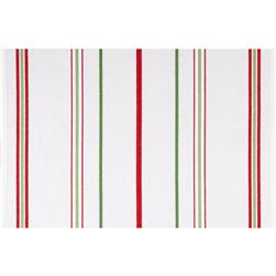 Moda Toweling Christmas Stripe White/Red/Green