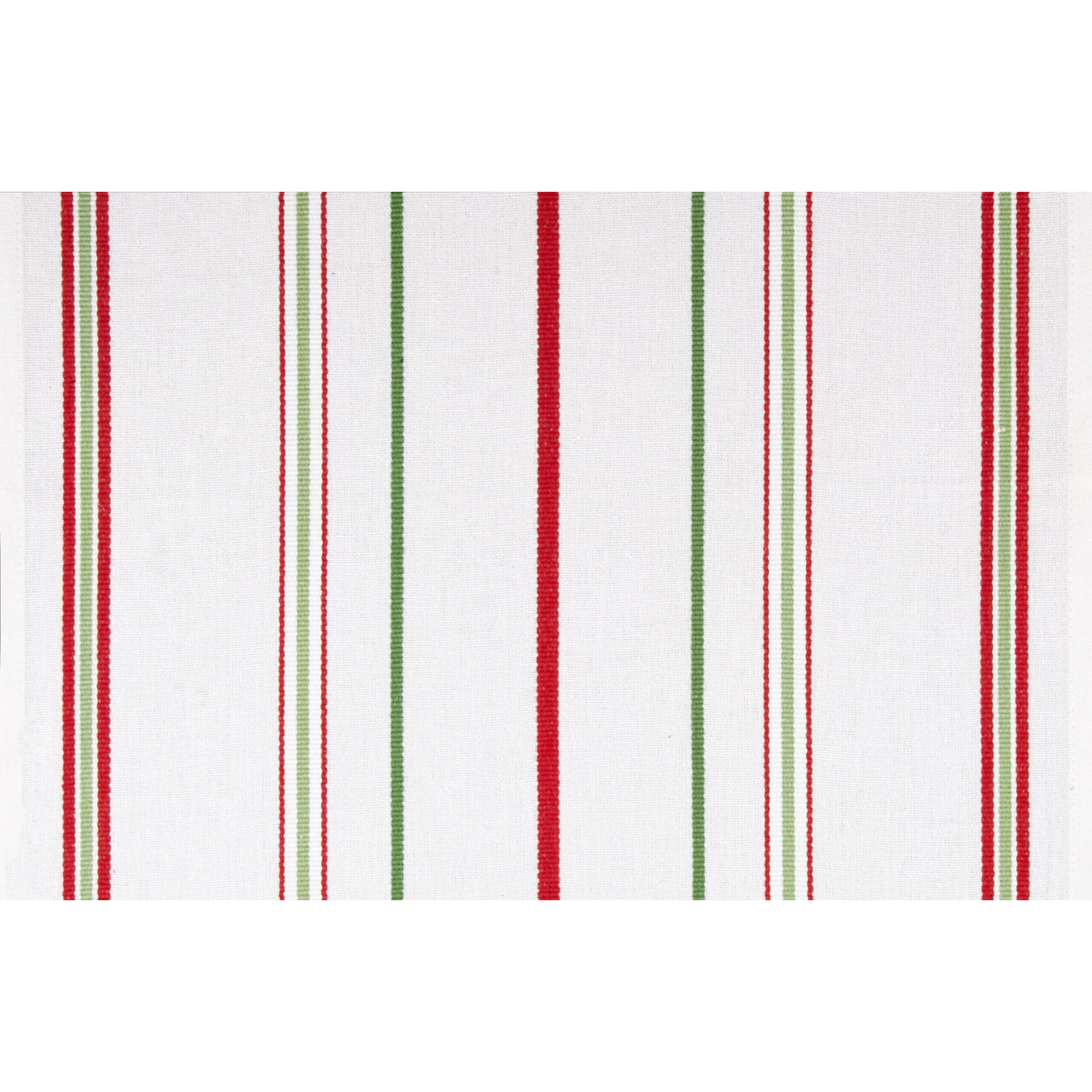 Moda Toweling Christmas Stripe White/Red/Green Fabric