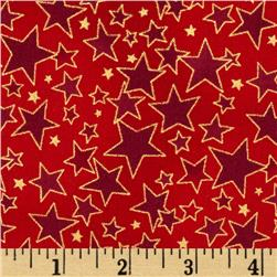 Christmas Basics Stars Red