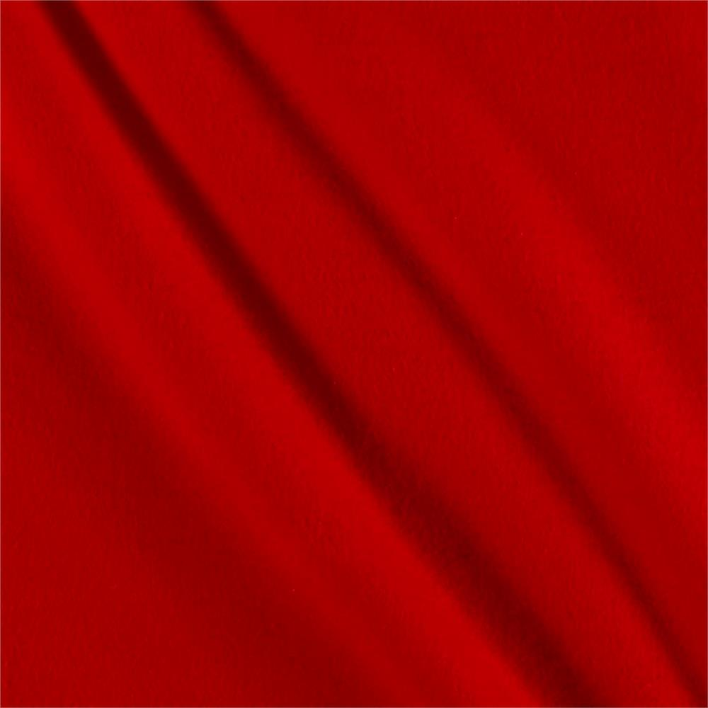 Solid Flannel Red Fabric