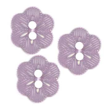 Novelty Button 5/8'' Beaded Flower Lavender