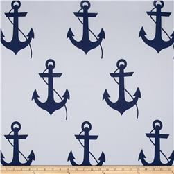RCA Blackout Drapery Fabric Anchors Navy