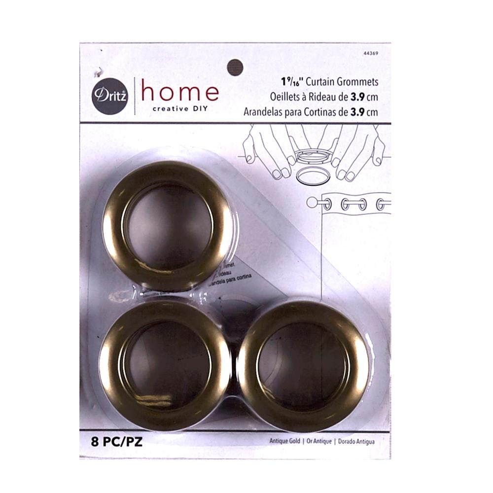Curtain Grommets 8 Pack Antique Gold 1 -