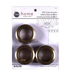 Curtain Grommets 8 Pack Antique Gold