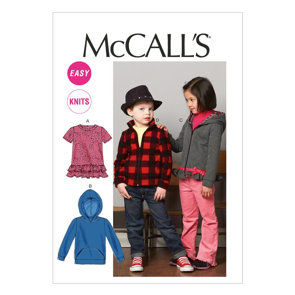 McCall's Children's/Boys'/Girls' Tops and Jackets Pattern M6782