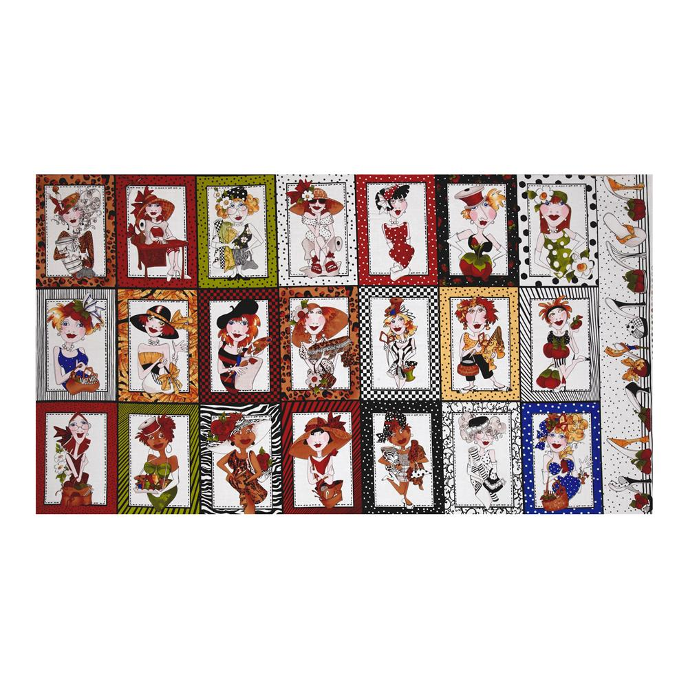"Loralie Designs Sew Creative 23.5"" Panel Multi"