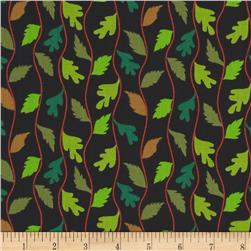 Bloomsbury Wavy Leaf Stripe Black
