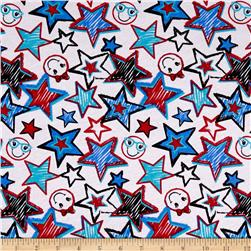 Cotton Blend Children's Jersey Knit Stars