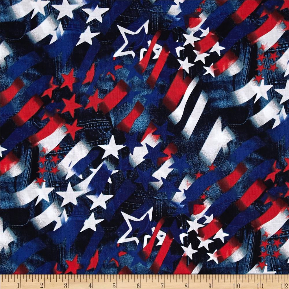 USA Flag Collage Multi