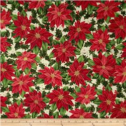 Christmas Star Metallic Packed Poinsettias Cream