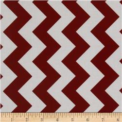 Riley Blake Laminate Medium Chevron Crimson