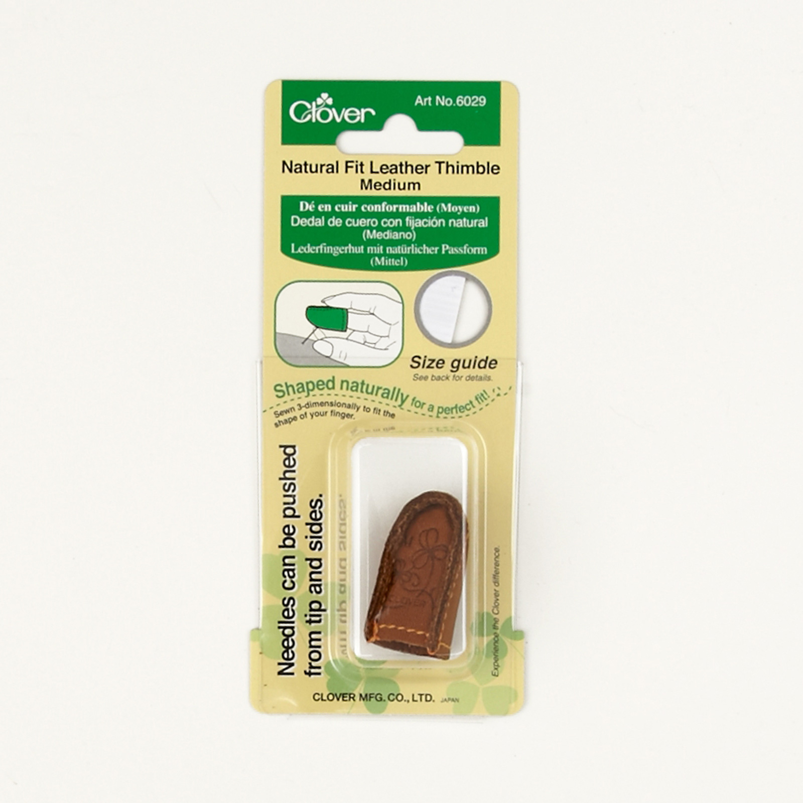 Clover Natural Fit Leather Thimble Medium by Clover Needlecraft in USA