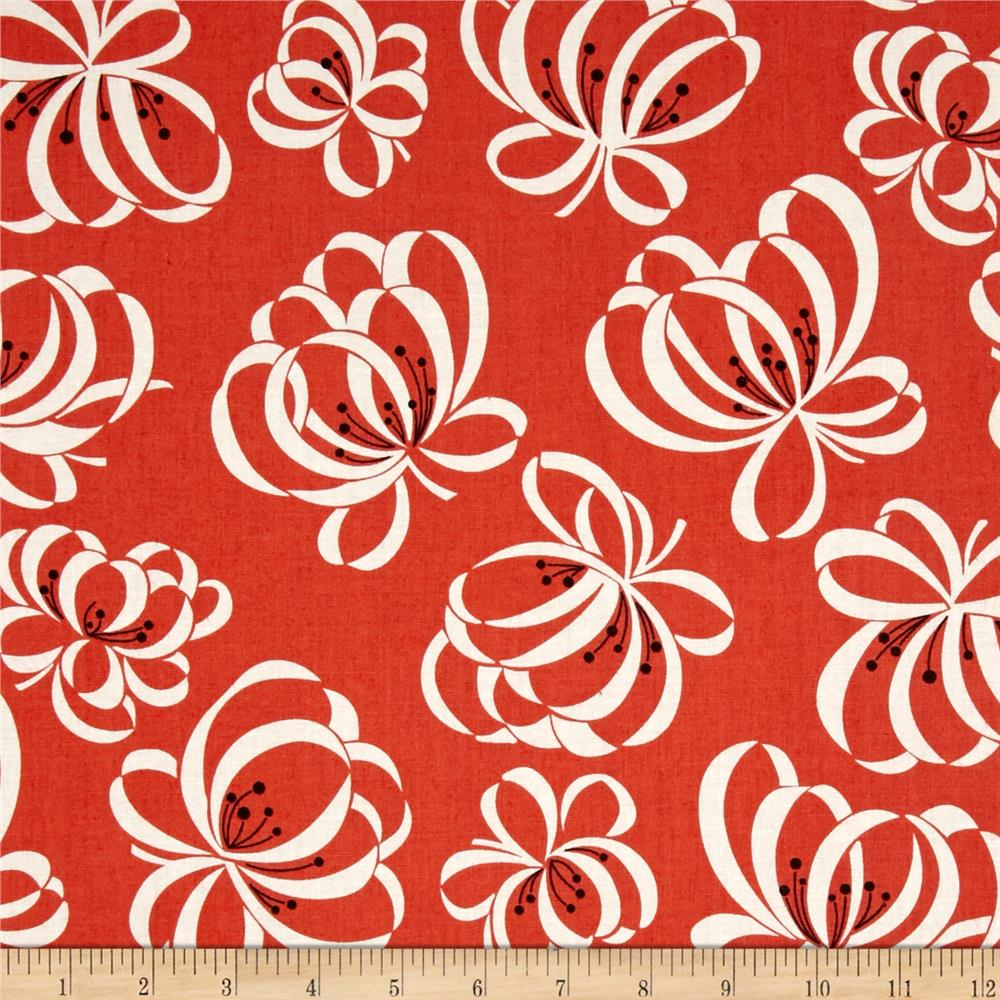 Denyse Schmidt Katie Jump Rope Ribbon Floral Orange