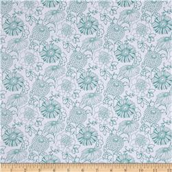 Stonewall Bloom Medium Toss Floral White Fabric