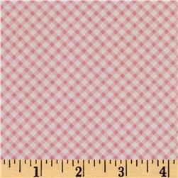 Penny Rose Bunnies & Cream Bunnies Gingham Pink