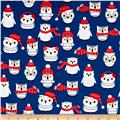 Kaufman Polar Pals Holiday Owls Royal