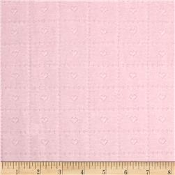 Cotton Heart Pointelle Knit Light Pink