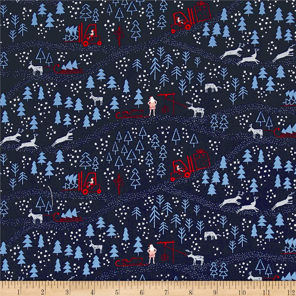 Dear Stella North Pole After Dark Santa Woodland Multi