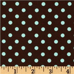 Michael Miller Dumb Dot Chocolate Fabric