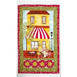 "Bliss on Blossom Street 24"" Panel Red/Green"