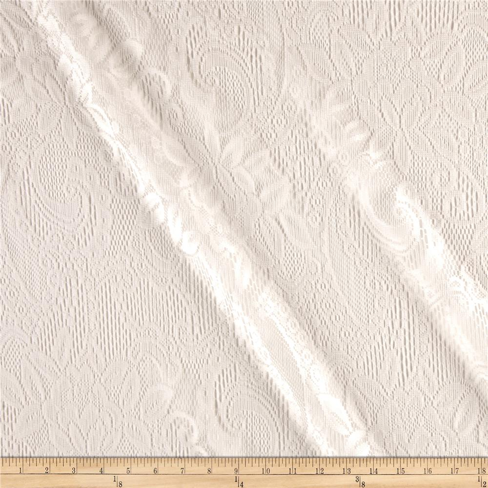 Traditional Table Cloth Lace White
