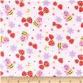 Strawberry Patch Flannel Pink