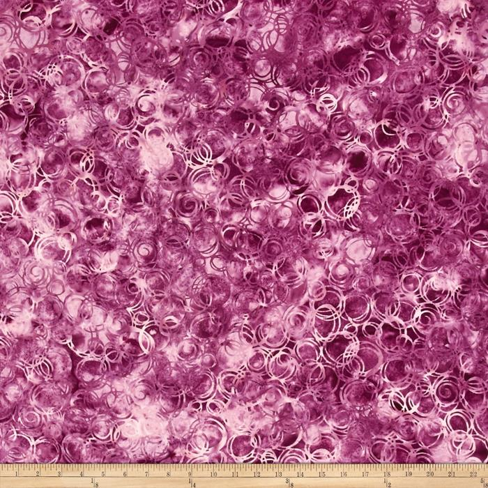Bali Batiks Handpaints Circles Boysenberry