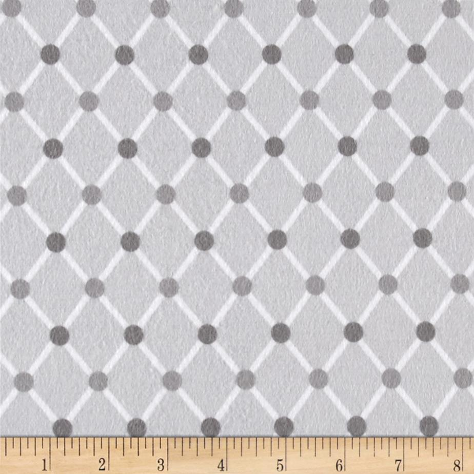 Kaufman Cozy Cotton Flannel Trellis Grey