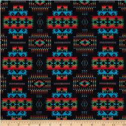 Tucson Flannel Blanket Black Fabric