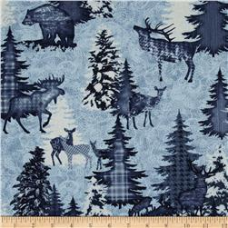 Alpine Woods Forest Visitors Natural/Blue