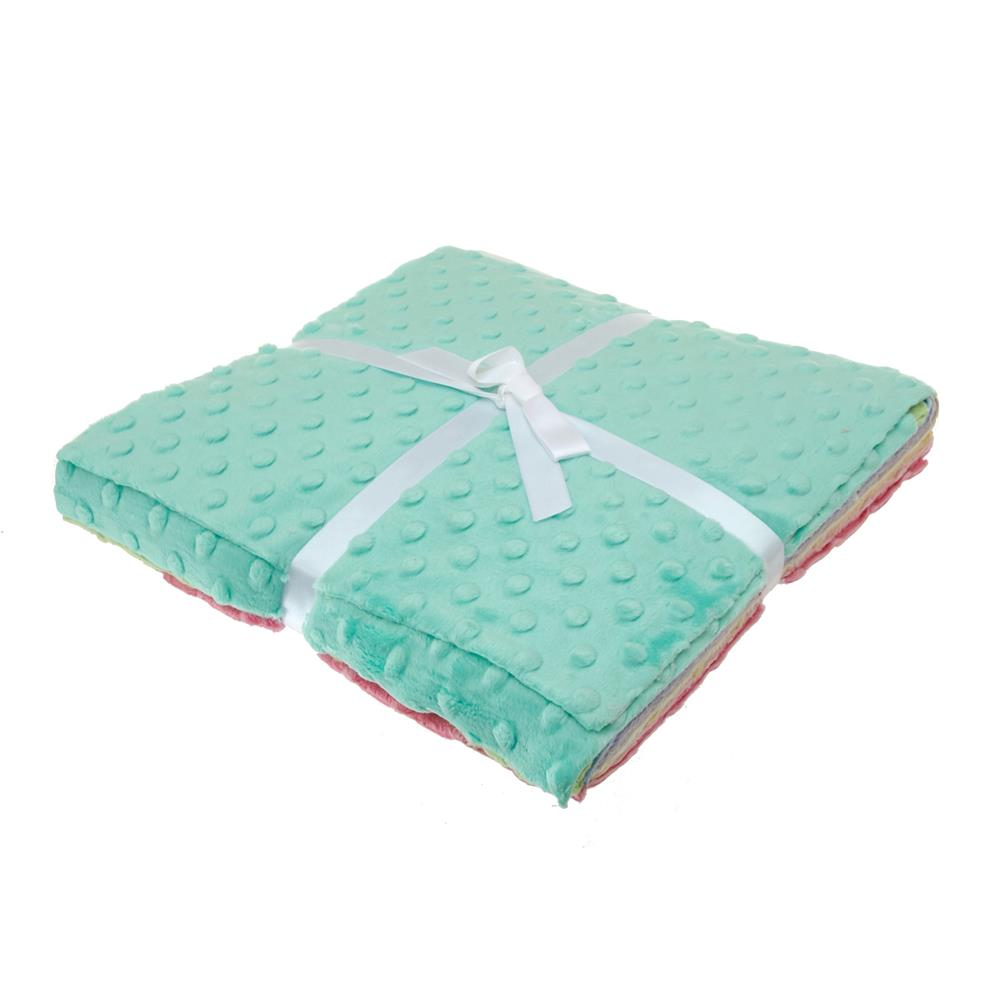 Minky Cuddle Cakes 10'' Dimple Dot Pretty Pastels